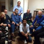 Reunión de artistas de Jáen. Preparando una exposición en la Academia de Paco Carrillo hijo. noviembre de 2014.