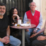 Reunión con el pintor Gunter Pfarrkircher en La Barra con Inca y Blas Cabrera Jaén, Mayo de 2014.